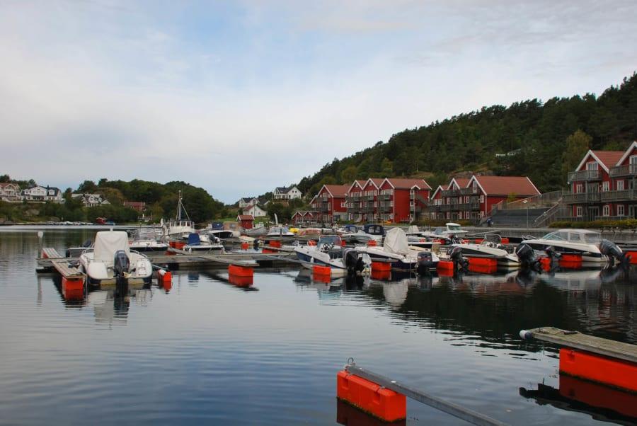 Båtplasser på Tregde Ferie